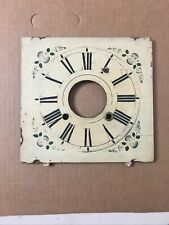 Antique Ogee Clock Wood Dial With Floral Decoration C. 1860ish