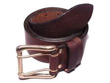 2 Pin 2 Loop 2 Inch Leather Jean Belt Waist Size Mens Ladies Black Brown Tan Fit