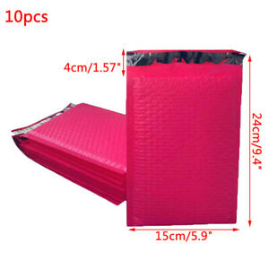 10pcs 9x6 Inch Poly Bubble Mailer Pink Self Seal Padded Envelopes/mailing BagsZH