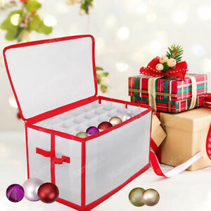 Xmas Bauble Decorations Storage Box Holds Up to 112 Tree Ornament Balls Holiday