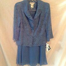 Miss Dorby Dress Size 8 Cobalt Blue Jacket Skirt Church Career New
