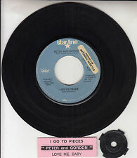"""PETER AND GORDON I Go To Pieces 7"""" 45 rpm vinyl record + juke box title strip"""