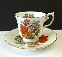 Elizabethan Bone China Flowers of the Seasons Tea Cup & Saucer Made in England