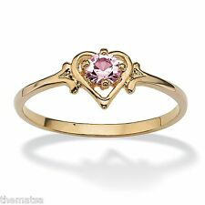 WOMENS 14K GOLD GP BIRTHSTONE ALEXANDRITE HEART SHAPE RING SIZE  5 6 7 8 9 10