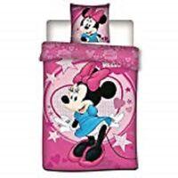 Parure de lit Minnie, 140x200, housse de couette Minnie, parure de lit enfant