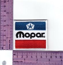Mopar 3 Colour Sguare Heat Sealed Embroidered Cloth Patch..Badge