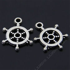 20x Retro Tibetan Silver Dangle Rudder Pendant Charms Beads Jewelry Making 470AF