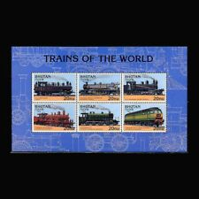 Bhutan, Sc #1131, MNH, 1996, S/S, Train, Locomotives, Railroad, LO277F