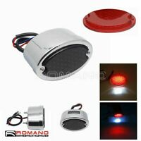 Motorcycle LED Rear Tail Light Cat Eye Stop Brake License Plate Lamp For Harley
