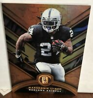 2019 Panini Gold Standard MARSHAWN LYNCH Emerald Parallel Card 80/99 RAIDERS 26