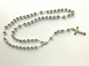 Silver and Gold ROSARY BEADS Boxed