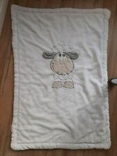 Baby Decke Kuscheldecke weiß Schaf 100x70 cm Kinderwagendecke Krabbeldecke