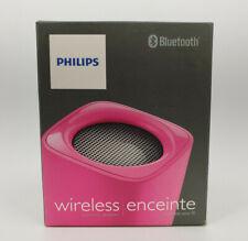 PHILIPS BLUETOOTH WIRELESS PORTABLE SPEAKER PURPLE BT100P BUILT IN MICROPHONE