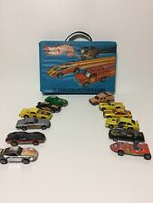Vintage Hot Wheels 12 Car Collector Case with Cars DETAILED List in Description!