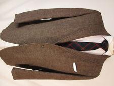 Harris Tweed Vintage 50s Mens Brown 3 Btn Blazer 42R