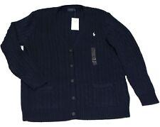 Polo Ralph Lauren Weste Strick Cardigan LSL SWT Baumwolle blau Größe XL
