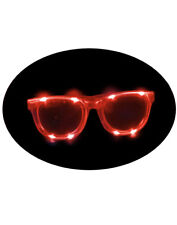 Red Jumbo Flashing LED Light Up Party Rave Costume Accessory Sun Glasses