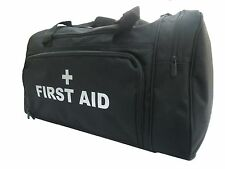 FIRST AID Black Holdall/Work Bag SILVER Text Paramedic Ambulance Medic St John
