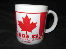 NEW Ceramic CANADA Niagara Falls Coffee MUG Vintage Cup Flag Maple Leaf Canuck