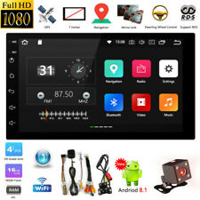 7'' Android 8.1 Double DIN 16G Quad Core GPS Bluetooth Car Stereo MP5 Player