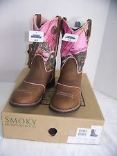 """Girls' Smoky Mountain """"3468Y""""- Ruby Belle Camo Western Boot Round Toe Size 5.5Y"""