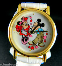 Mickey & Minnie Animator Wacht  New Battery New white Band