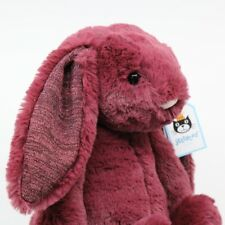 Jellycat Plush Toy Bashful Bunny Sparkly Cassis Medium - 31cm