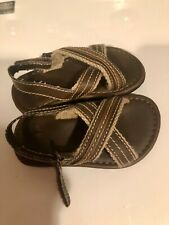 GAP Toddler Boys Brown Flip Flops Sandals Faux Leather size 7-8