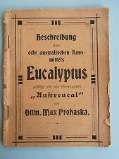 0 x KVK: WERBESCHRIFT Klingenthal um 1920, Eukalypsus-Heilmittel, O.M. Prohaska