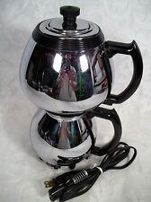 VINTAGE SUNBEAM COFFEEMASTER CHROME VACUUM COFFEE MAKER MODEL C30A