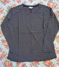 NEW Boden Scoop Neck Tee Top - Navy Stripe - 16 UK (12 US)