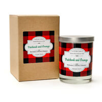 Patchouli and Orange - 100% Soy Candle Scented with Patchouli, Orange, Mango