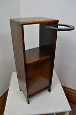 EDWARDIAN 1930s OAK SMALL CABINET BEDSIDE OCCASIONAL TABLE CUPBOARD CUP HOLDER