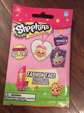 Shopkins Fashion Tags Blind Pack, Series 4, (1 Tag & 1 Sticker Inside),Sealed