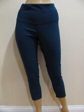 Yogalicious Womens Workout Capri Pants Size S Blue/Green Sheer