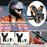 Motorcycle Helmet Front Chin Mount Holder Bracket For GoPro Hero 7/6/5 Camera !
