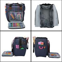 Portable Knitting Tote Bag Wool Crochet Storage Bags Sewing Needles Organizer AU