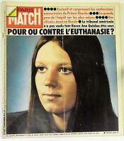 Paris Match N° 1382 - 22 novembre 1975 - PRINCE CHARLES - OVNIS  - Euthanasie