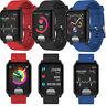 E04 ECG Smart Wrist Watch Blood Pressure 3D UI Heart Rate PPG Tracker For Phones