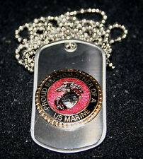PROUD GRANDMOTHER OF A US MARINE DOG TAG PIN BOOT CAMP GRADUATION SON MOM DAD