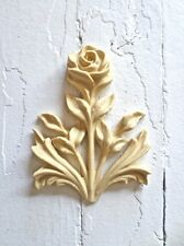 VICTORIAN CARVED ROSE FURNITURE APPLIQUE-WOOD&RESIN-STAINABLE-PAINTABLE-FLEXIBLE