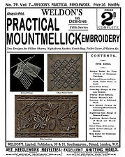 Weldon's 2D #79 c.1891 Instruction in Mountmellick Embroidery (5th Book)