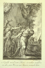 1791 Ovid Metamorphosen Skylla und Minos Scylla Kupferstich von J. Stöber