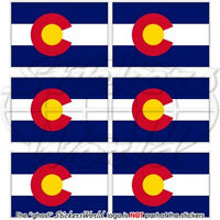 """COLORADO Flag USA America 1.6"""" (40mm) Mobile Cell Phone Mini Stickers, Decals x6"""