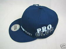 """PRO CLUB Fitted 100% wool Cap  Navy 7 3/8 """"New"""""""