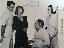 Lana Turner SIGNED 8x10 Photo Lionel Barrymore Lew Ayres 1939  Dr Kildare Young!