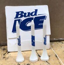 BUDWEISER BUD ICE MATCHBOX Golf Tees Set of 3 Brewania