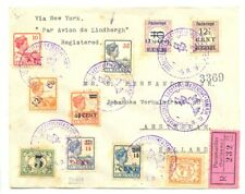 SURINAME 1929-9-25 REG FF COVER TO HOLLAND - LINDBERGH - STAINS - FINE