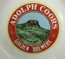 """rare Adolph Coors Golden Brewery Beer Butter Malted Milk ashtray 5 3/4"""""""