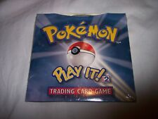 NIP Sealed Pokemon Trading Card Game Play It! CD-Rom Version for Windows PC
